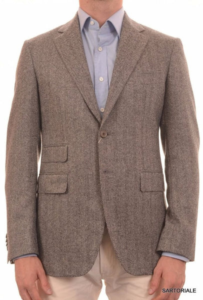 Herringbone jacket in gray from Sartoria Partenopea