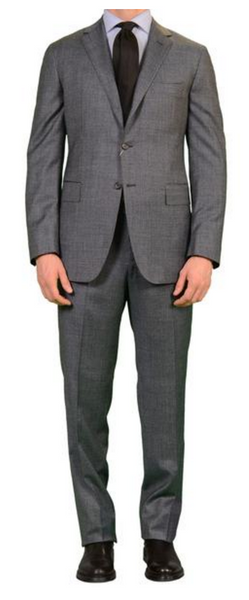 Gray business suit by Sartoria Partenopea