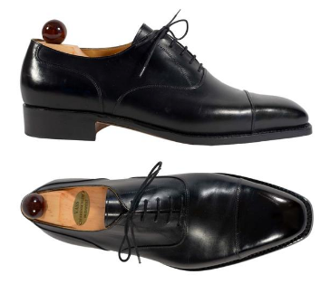 Black dress shoes by Vass Budapest
