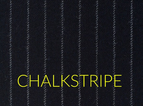 Chalkstripe fabric pattern in men's business suits