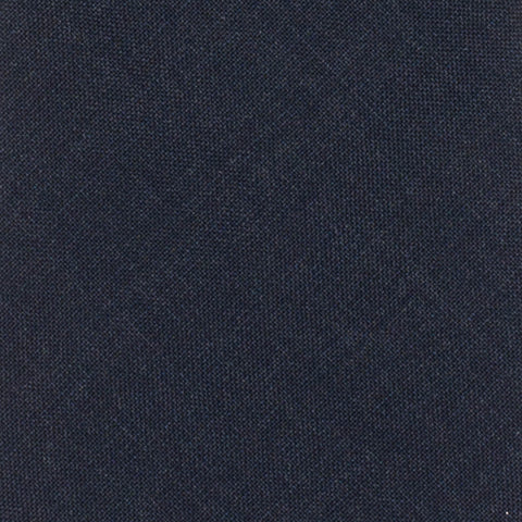 BRUNELLO CUCINELLI Solid Dark Blue Wool Super 120's Narrow Classic Tie NEW