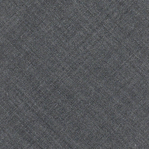 BRUNELLO CUCINELLI Solid Gray Wool Super 120's Narrow Classic Tie NEW