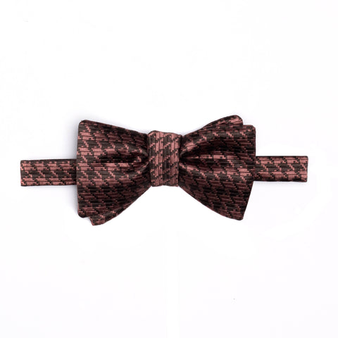 TOM FORD Pale Pink Houndstooth Silk Classic Bow Tie