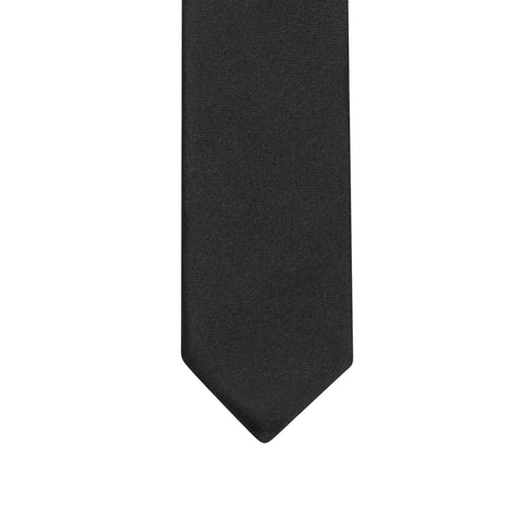 DIOR HOMME Hedi Slimane Bee Black Silk Satin Skinny Tie NEW