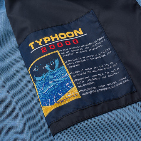 PAUL & SHARK Yachting Typhoon 20000 Blue Hooded Waterproof Jacket Size L