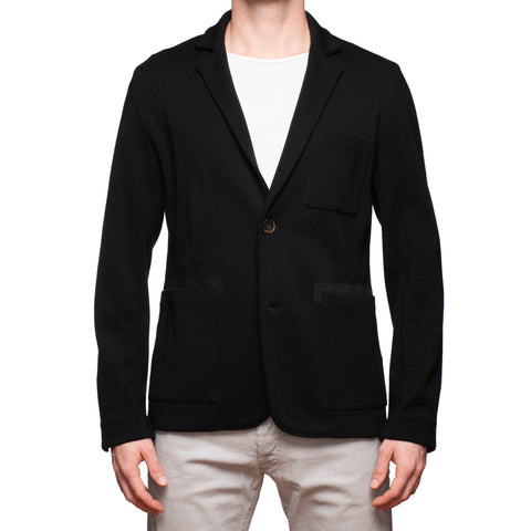 BERLUTI Handmade Black Wool Knit Blazer Jacket Size L US 40