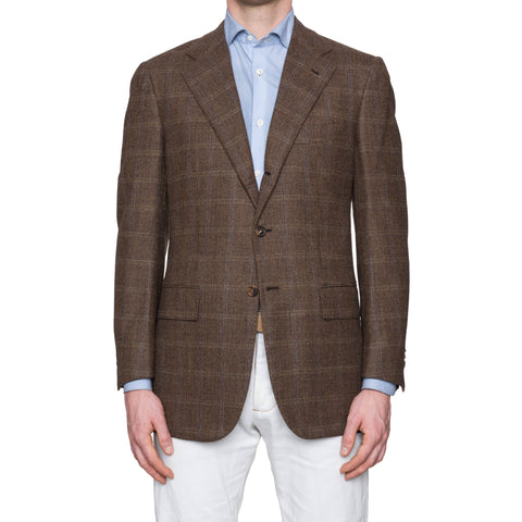 SARTORIA CESARE ATTOLINI Brown Plaid Wool Flannel Blazer Jacket EU 50 NEW US 40
