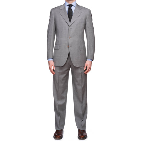 CASTANGIA 1850 Gray Wool Business Suit EU 50 NEW US 40