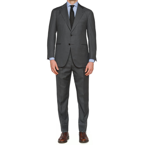 Sartoria CHIAIA Napoli Handmade Gray Wool Suit NEW Slim Fit