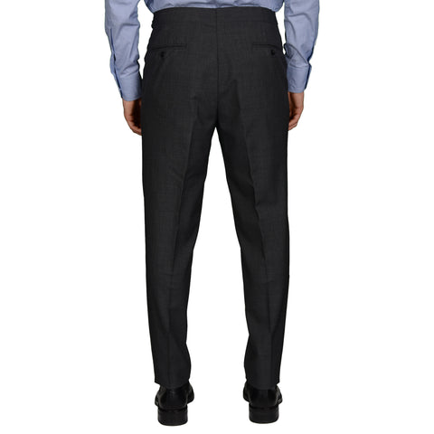 AMBROSI Napoli Bespoke Dark Gray VBC Wool Super 120's SP Dress Pants EU 50 US 34