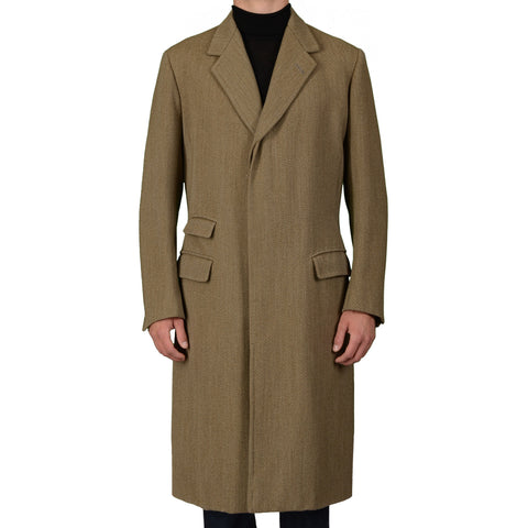 ANDERSON & SHEPPARD Savile Row Bespoke Wool Over Coat US 44-46 Long