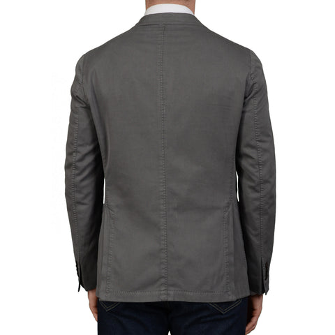 "BOGLIOLI Milano ""Coat"" Gray Cotton-Silk Unlined Blazer Jacket Sports Coat NEW"