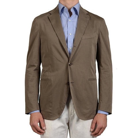 "BOGLIOLI Milano ""Coat"" Khaki Cotton Unlined Blazer Jacket EU 54 NEW US 44"