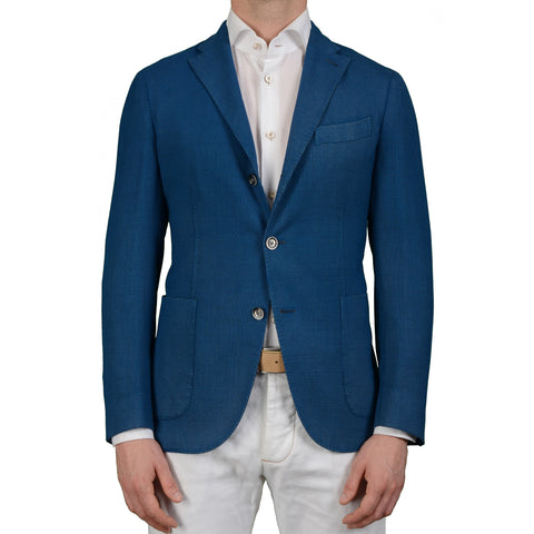 "BOGLIOLI Milano ""K. Jacket"" Blue Wool Unlined Blazer Jacket Sports Coat NEW"