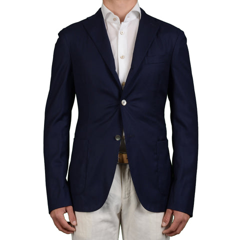 "BOGLIOLI Milano ""MTM"" Navy Blue Wool Unlined Blazer Jacket EU 52 NEW US 42"