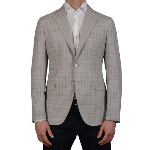 "BOGLIOLI Milano ""York"" Gray Plaid Cotton Blazer Jacket EU 50 NEW US 40"