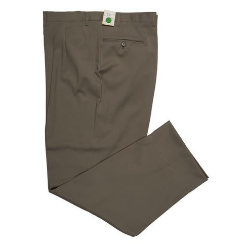D'AVENZA Roma Olive Wool DP Dress Pants NEW Classic Fit