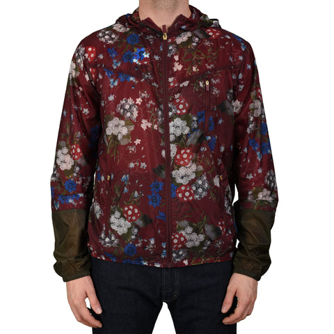 ERDEM X H&M Crimson Floral Poly Hooded Blouson Jacket NEW US L