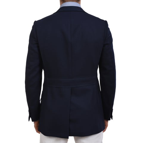 "D'AVENZA ""Forte"" Navy Blue Wool-Mohair Blazer Jacket EU 48 NEW US 38 Slim"