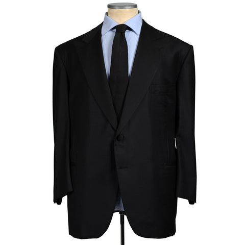 D'AVENZA for VERO UOMO Black Wool Super 150's Tuxedo Jacket EU 62 NEW US 52