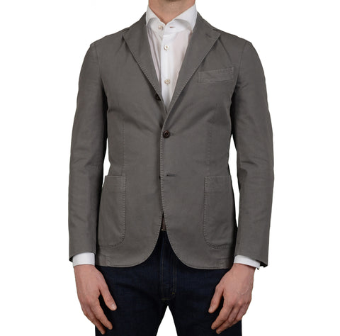 "BOGLIOLI Milano ""Coat"" Gray Cotton Unlined Blazer Jacket Sports Coat NEW"