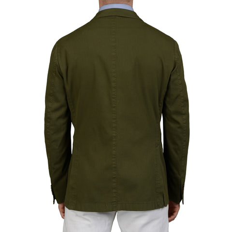 "BOGLIOLI Milano ""Coat"" Green Cotton Unlined Blazer Jacket Sports Coat NEW"