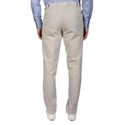 "BOGLIOLI Milano ""Coat"" Gray Cotton-Linen Twill Slim Fit Casual Pants 48 NEW 32"