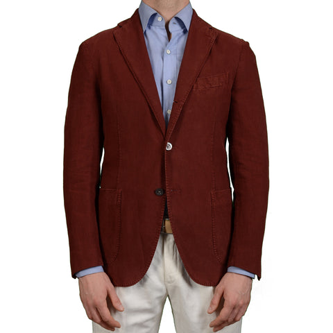 "BOGLIOLI Milano ""Coat"" Crimson Cottton Unlined Blazer Jacket EU 50 NEW US 40"