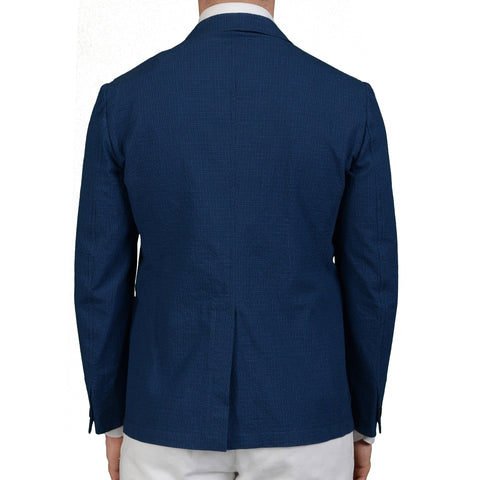 "BOGLIOLI Milano ""Newport"" Blue Cotton Unlined Blazer Jacket EU 48 NEW US 38"