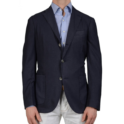 "BOGLIOLI Milano ""K.Jacket"" Navy Blue Wool Unlined Blazer Jacket Sports Coat NEW"