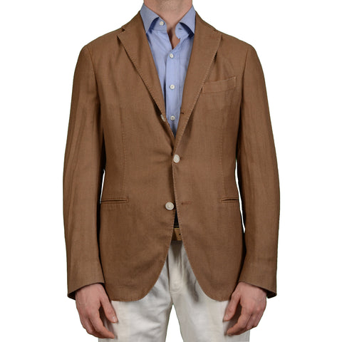 "BOGLIOLI Milano ""K. Jacket"" Brown Cashmere-Silk Unlined Jacket EU 50 NEW US 40"