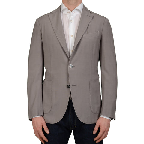"BOGLIOLI Milano ""K. Jacket"" Light Gray Wool Unlined Blazer Jacket NEW"