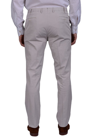 "BOGLIOLI Milano ""Wear"" Gray Cotton Twill Flat Front Slim Fit Pants 48 NEW US 32"