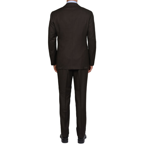 CESARE ATTOLINI Napoli Handmade Brown Birdseye Wool Suit EU 56 NEW US 46