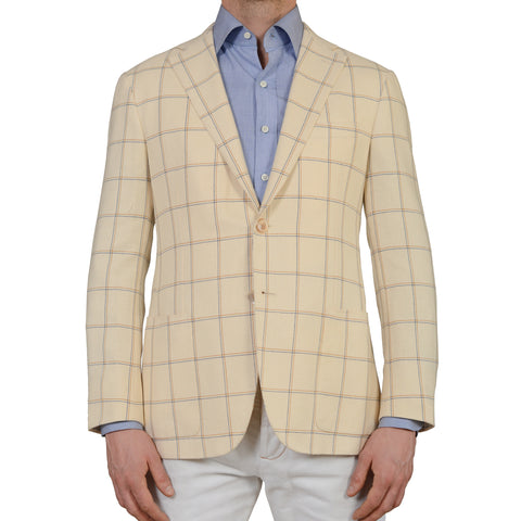 "D'AVENZA ""Easy Chic"" Beige Wool-Silk-Linen Blazer Jacket EU 50 NEW US 40"