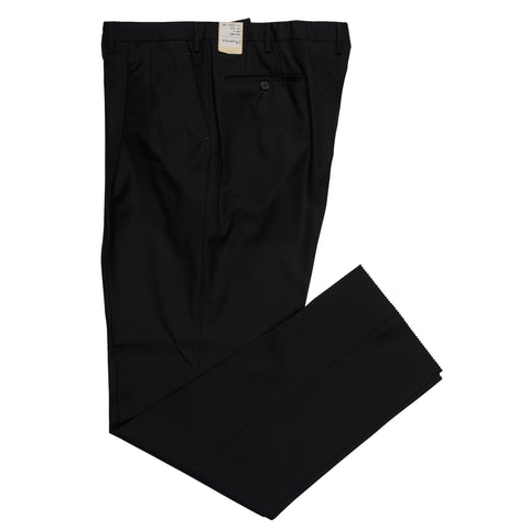 D'AVENZA Roma Dark Gray Wool DP Dress Pants NEW Classic Fit