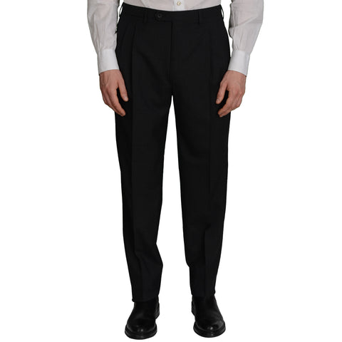 D'AVENZA Roma Gray Wool DP Dress Pants NEW Classic Fit