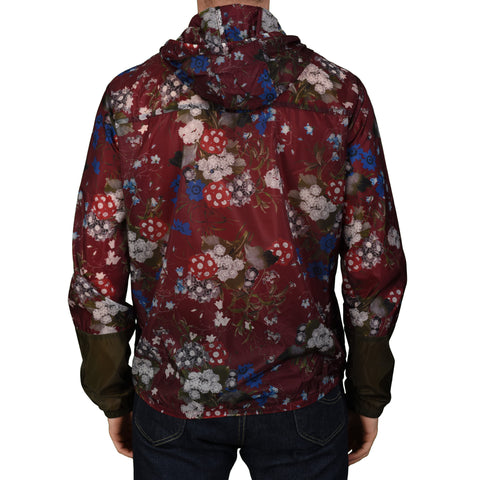 ERDEM X H&M Burgundy Floral Poly Hooded Blouson Jacket NEW US L
