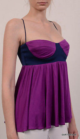 MARA HOFFMAN Made In USA Purple Silk Top Size S - SARTORIALE - 2