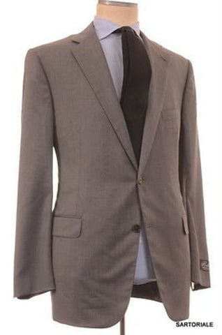 BELVEST Hand Made Solid Gray Super 130's Wool Suit EU 58 NEW US 48 R7 - SARTORIALE