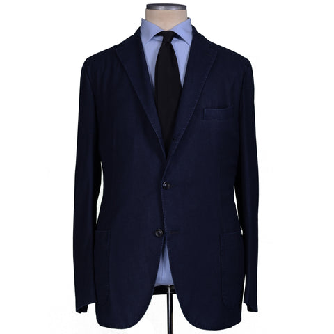 "BOGLIOLI Milano ""K. Jacket"" Navy Blue Wool Unlined Blazer Jacket EU 60 NEW US 50"