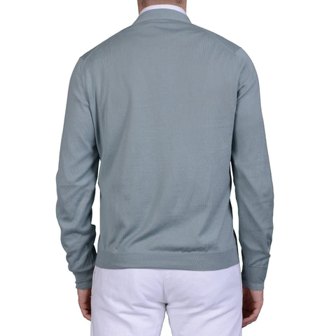 BRUNELLO CUCINELLI Turquoise Cotton Cardigan Sweater US M NEW EU 50