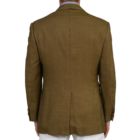 D'AVENZA For BRUNO CIPRIANI Handmade Wool-Silk DB Blazer Jacket NEW