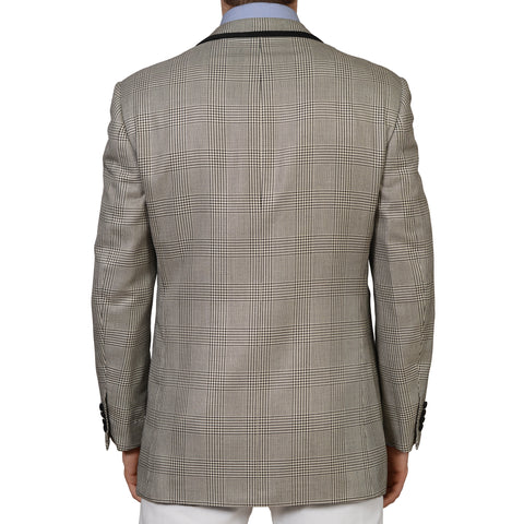 D'AVENZA Gray Silk Wool 1 Button Blazer Jacket EU 52 NEW US 42 With Cumberband