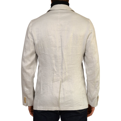 D'AVENZA Light Gray Cotton Silk Unlined Field Jacket EU 50 NEW US M