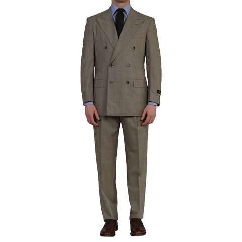 D'AVENZA Roma Handmade Gray Wool DB Suit EU 50 NEW US 40