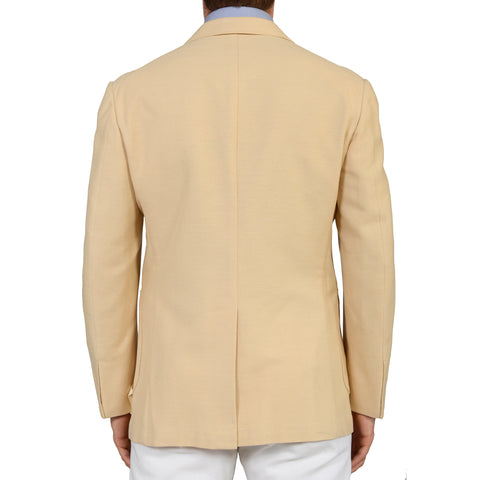 "TINCATI Milano ""Dakar"" Beige Hopsack Cotton Wool Blazer Jacket EU 50 NEW US 40"