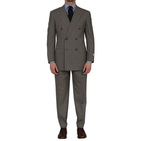 D'AVENZA Roma Handmade Gray Wool Super 120's Suit EU 48 NEW US 38