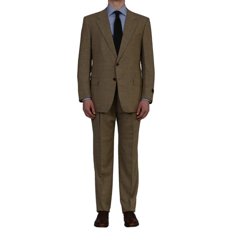 "D'AVENZA Roma ""Sestri"" Handmade Beige Wool Suit EU 54 NEW US 44"