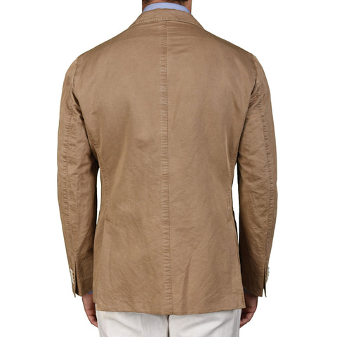 "BOGLIOLI Milano ""K. Jacket"" Sand Linen-Cotton Unlined Blazer Jacket Sports Coat NEW"
